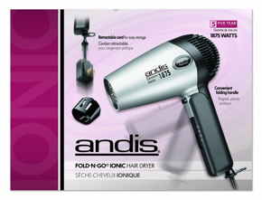 Andis RC-2 Ionic1875W Ceramic Folding Hair Dryer