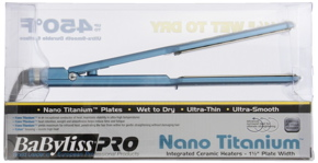 BaByliss Pro Nano Titanium Wet-To-Dry Hair Ultra-Thin Straightening Iron