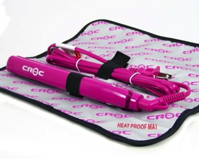 Turboion Baby Croc Professional Dual Voltage Mini Travel Flat Iron