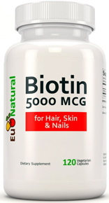 Eu Natural Biotin 5000 mcg dietary capsules