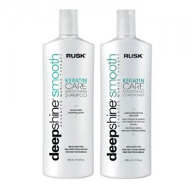 Rusk Deepshine Smooth Keratin Care Smoothing Shampoo and conditioner