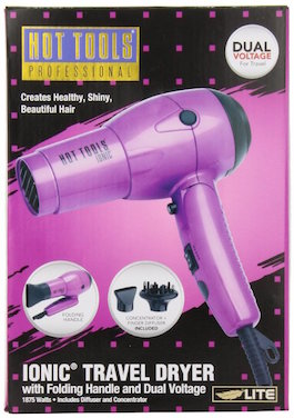 Hot Tools Professional HT1044 Ionic 1875 Watt Dual Voltage Travel Dryer with Folding Handle