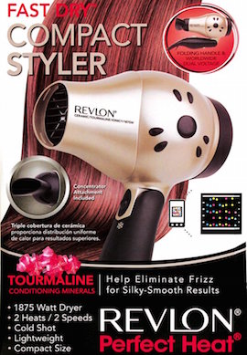 Revlon Perfect Heat 1875W Fast Dry Compact Dryer