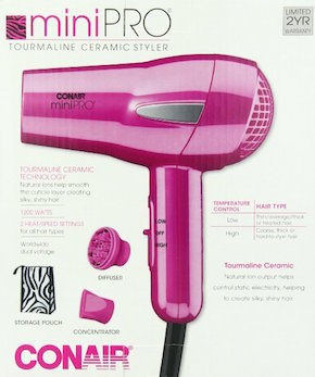 miniPRO by ConAir Ceramic Travel Styler