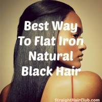 best way to flat iron natural black hair