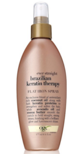 OGX Flat Iron Spray Ever Straight Brazilian Keratin Therapy