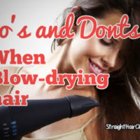 dos and donts when blowdrying hair